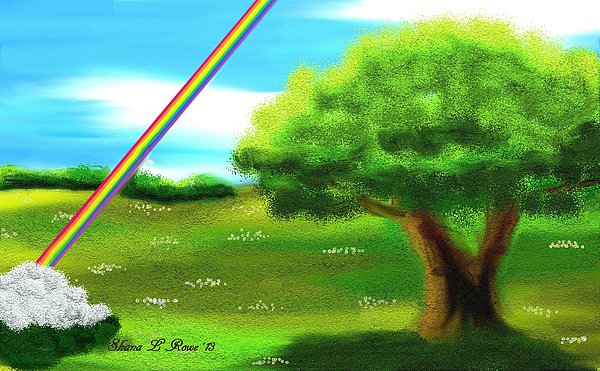 Rainbow Digital Art - No More Rain by Shana Rowe Jackson