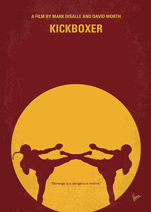 Kickboxer Digital Art - No178 My Kickboxer Minimal Movie Poster by Chungkong Art