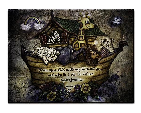 Spritual Art Painting - Noahs Ark by La Rae  Roberts