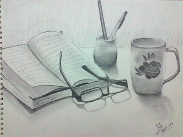 Still Life Drawing - None by A Ghouri