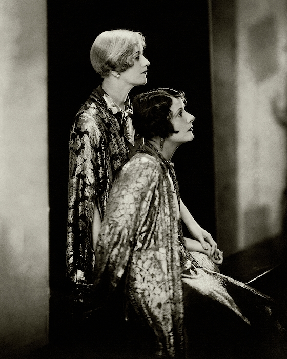Norma And Constance Talmadge Photograph by Edward Steichen