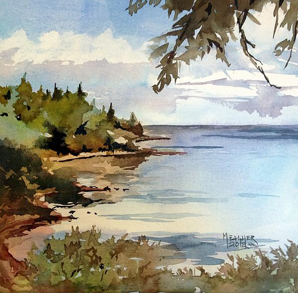 Duluth Painting - North Shore Lake Superior by Spencer Meagher