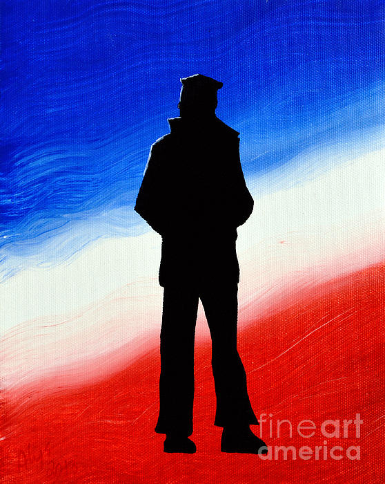 Non Sibi Sed Patriae Painting - Not Self But Country by Alys Caviness-Gober