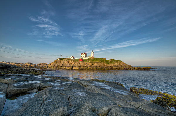 Cape Neddick Photograph - Nubble In Blue by At Lands End Photography