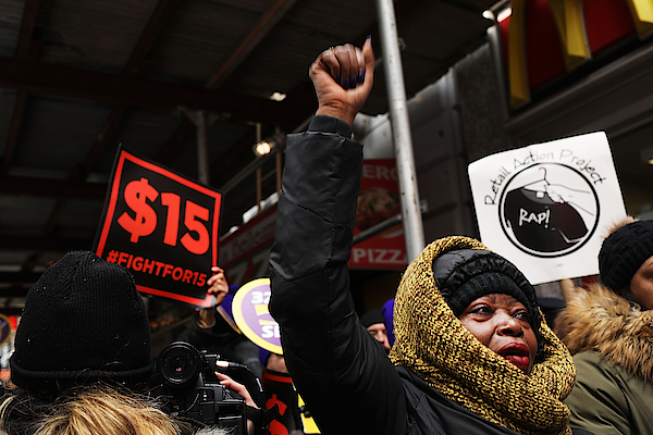 Nyc Fast Food Workers Join Nationwide Protests Against Puzder Nomination Photograph by Spencer Platt