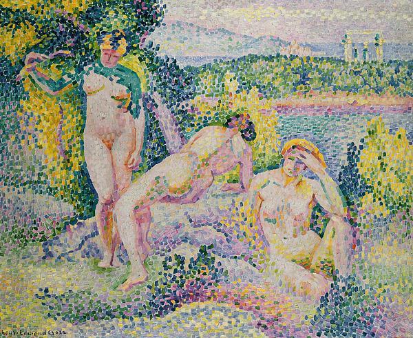 Nymphs Painting - Nymphs by Henri Edmond Cross