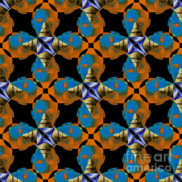 Politic Photograph - Obama Abstract 20130202p28 by Wingsdomain Art and Photography