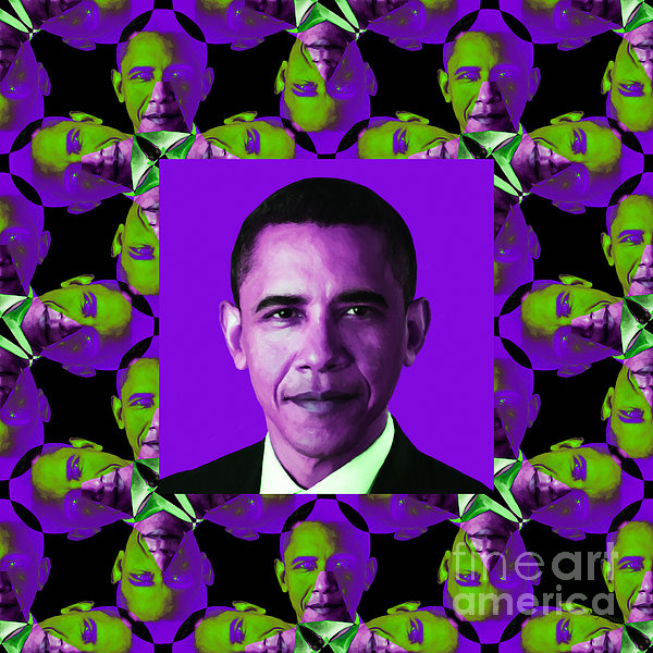 Politic Photograph - Obama Abstract Window 20130202m88 by Wingsdomain Art and Photography