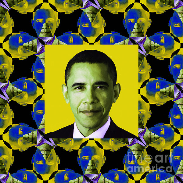 Politic Photograph - Obama Abstract Window 20130202p55 by Wingsdomain Art and Photography
