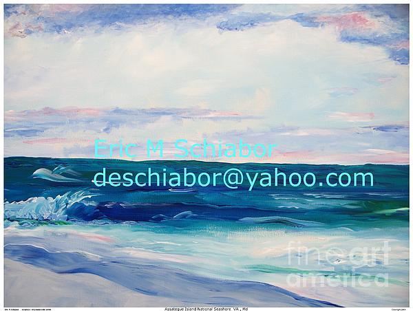 Floral Painting - Ocean Assateague Virginia by Eric  Schiabor