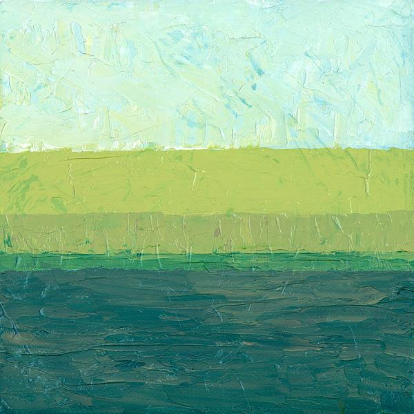 Abstract Painting - Ocean Blue And Green by Michelle Calkins