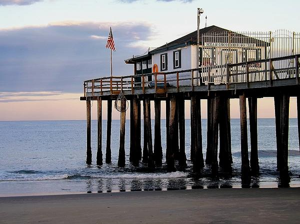 Jersey Shore Photograph - Ocean Grove Fishing Club by William Walker