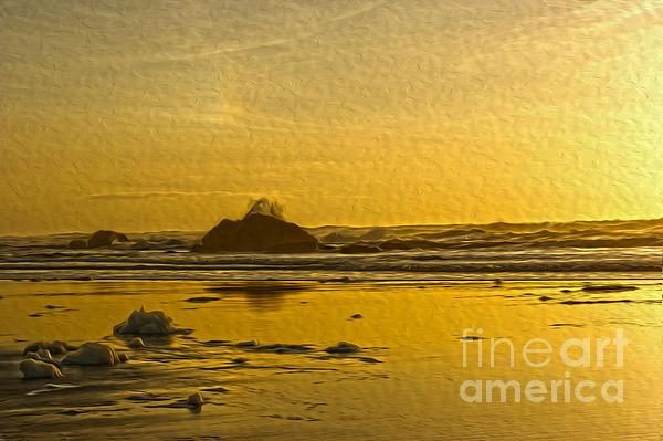 Yellow Ocean Digital Art - Ocean Yellow by Nur Roy