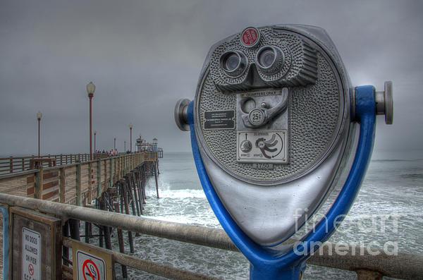Oceanside Photograph - Oceanside Pier California Binocular Vision by Bob Christopher