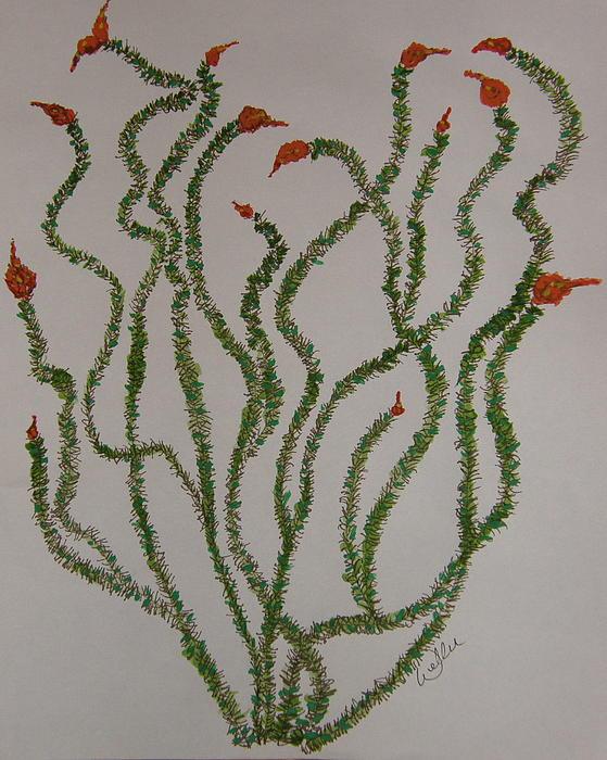 Ocotillo Painting - Ocotillo Dance by Marcia Weller-Wenbert