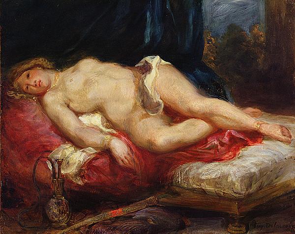 Delacroix Painting - Odalisque by Ferdinand Victor Eugene Delacroix