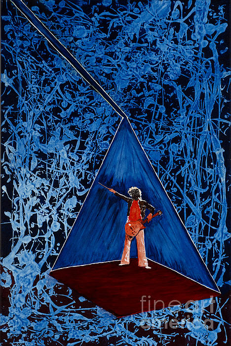Led Zeppelin Painting - Oh Jimmy by Stuart Engel