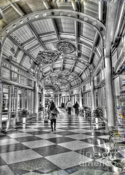 Chicago Illinois Photograph - Ohare Terminal Two by David Bearden