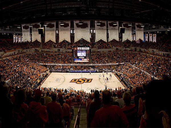 Oklahoma State University Photograph - Oklahoma State Cowboys Gallagher-iba Arena by Replay Photos
