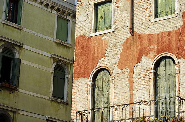 Aged Photograph - Old Buildings Facades by Sami Sarkis