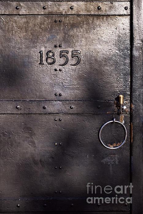 Old Metal Door Photograph - Old Lighthouse Door by Eyzen M Kim