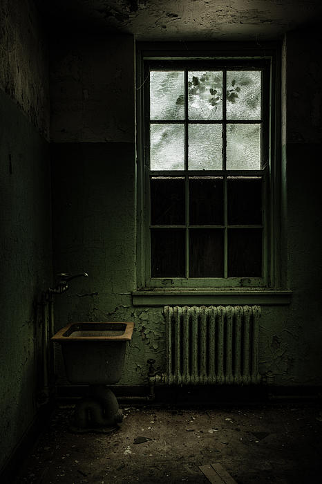 Abandoned Asylum Photograph - Old Room - Abandoned Asylum - The Presence Outside by Gary Heller