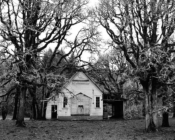 School House Photograph - Old School House In The Woods by Thomas J Rhodes