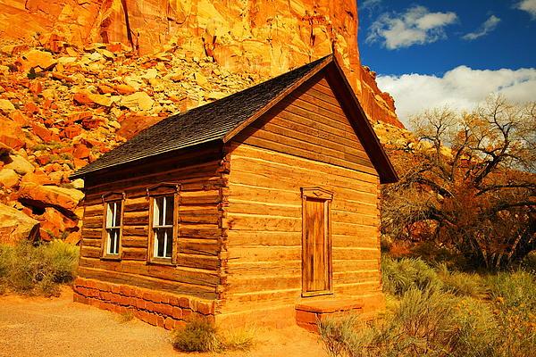 Schools Photograph - Old Schoolhouse Near Capital Reef Utah by Jeff Swan
