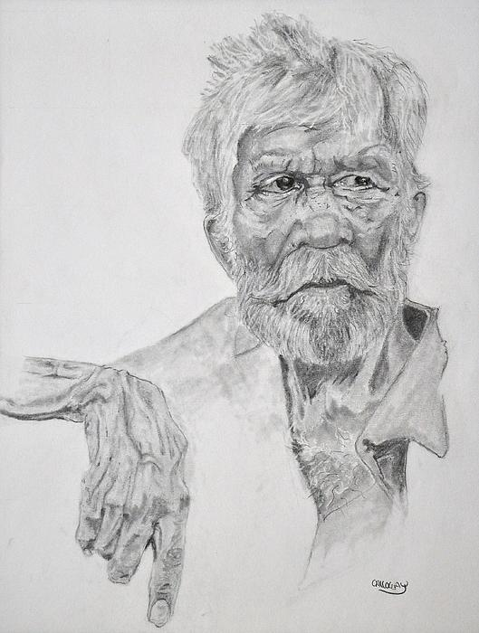 Old Drawing - Old Seaman by Glenn Calloway