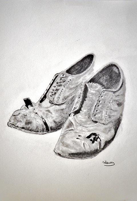 Old Drawing - Old Shoes by Glenn Calloway
