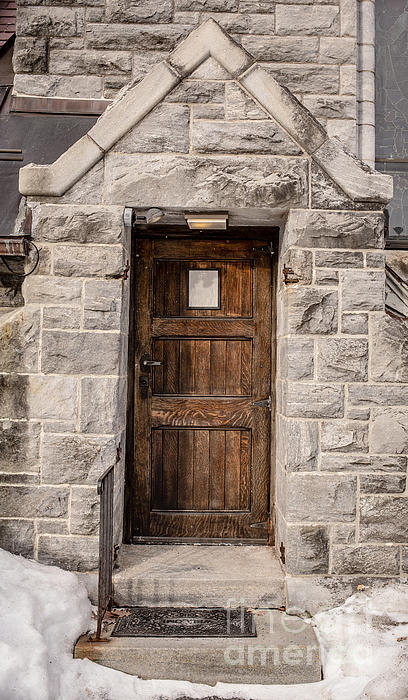 House Photograph - Old Stone Church Door by Edward Fielding