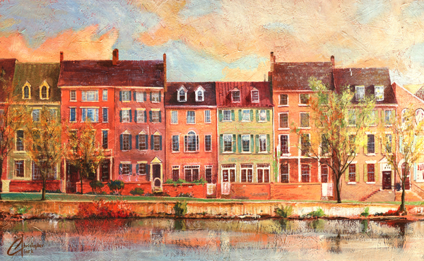 Christopher Clark Painting - Old Town Alexandria IIi by Christopher Clark
