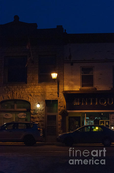 Antiques Photograph - Old Town At Night by Cheryl Baxter