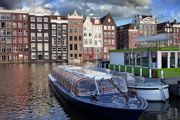 Amsterdam Photograph - Old Town Of Amsterdam In Netherlands by Artur Bogacki