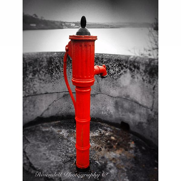 Coloursplash Framed Prints Photograph - Old Water Pump Kinsale by Maeve O Connell