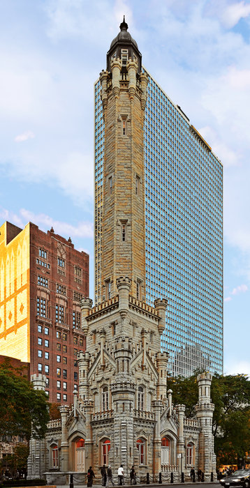 Old Photograph - Old Water Tower Chicago by Christine Till