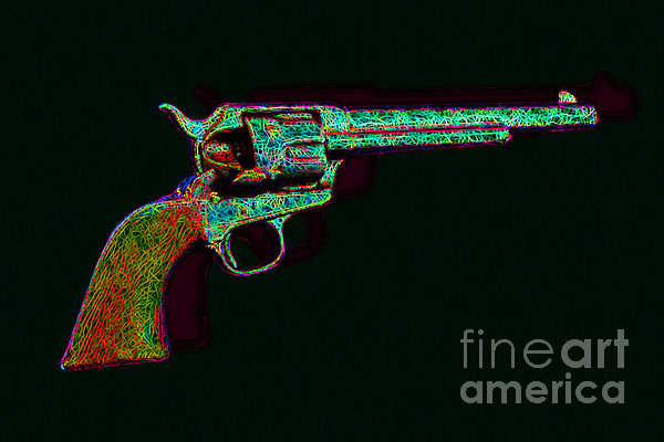 Gun Photograph - Old Western Pistol - 20130121 - V1 by Wingsdomain Art and Photography