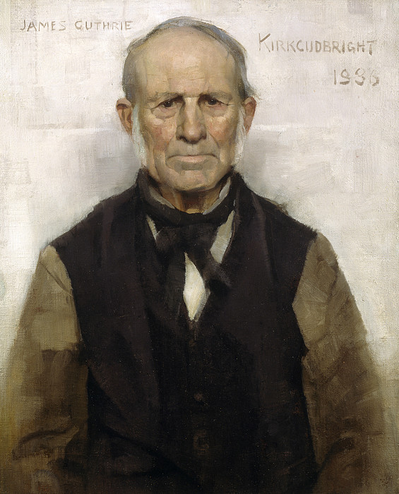 Male Painting - Old Willie - The Village Worthy, 1886 by Sir James Guthrie