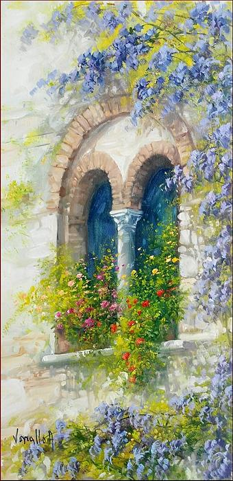 Old window bifora 20x40 painting by antonietta varallo for 20 40 window