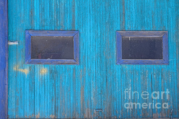 Blue Photograph - Old Wood Blue Garage Door by James BO  Insogna