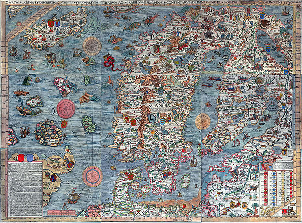 Old World Map Photograph - Old World Art Map  by Inspired Nature Photography Fine Art Photography