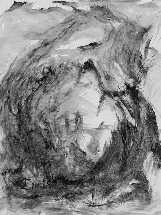 Ennis Painting - Ole Toothy Wings by Christophe Ennis