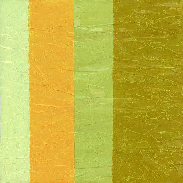 Abstract Painting - Olive And Peach by Michelle Calkins