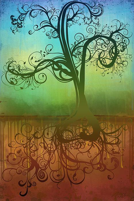 Tree Digital Art - Omid by Ryan Burton
