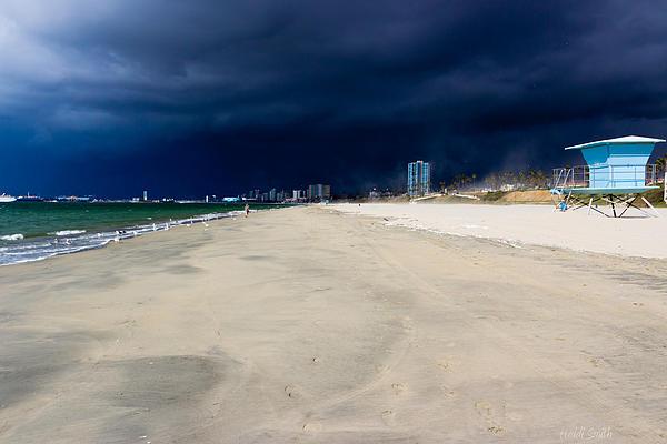 America Photograph - Ominous Sky Over Long Beach by Heidi Smith