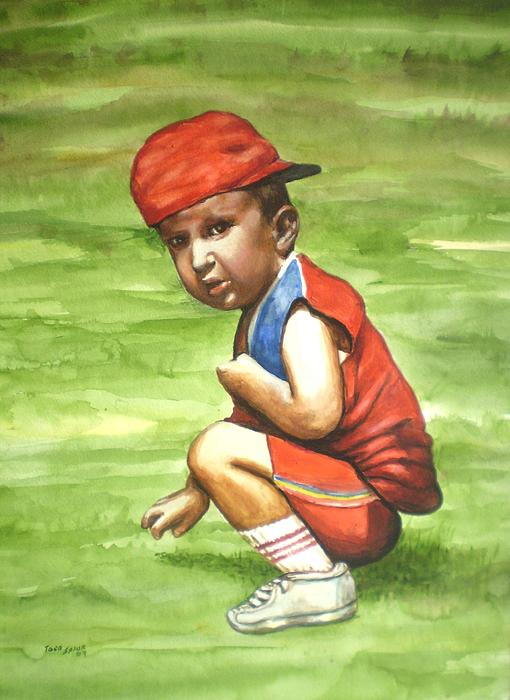 Child Painting - On A Sunny Day by Todd Spaur