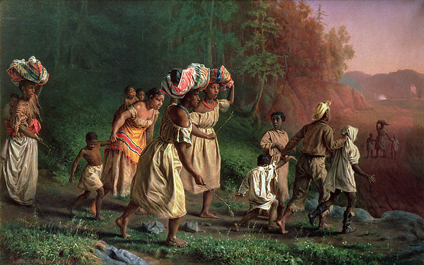 Slaves Painting - On To Liberty, 1867 by Theodor Kaufmann