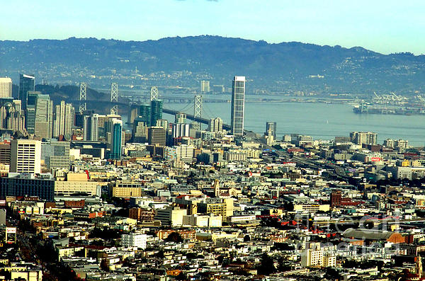 Jim Fitzpatrick Photograph - On Twin Peaks Over Looking The City By The Bay by Jim Fitzpatrick