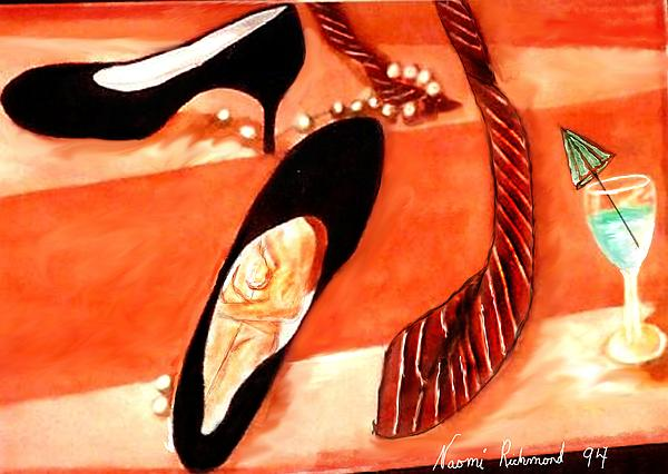 Black High Heels Painting - One Night Stand by Naomi Richmond