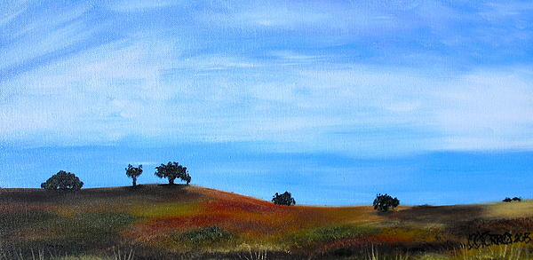 Landscape Painting - Open Field by Melissa Torres